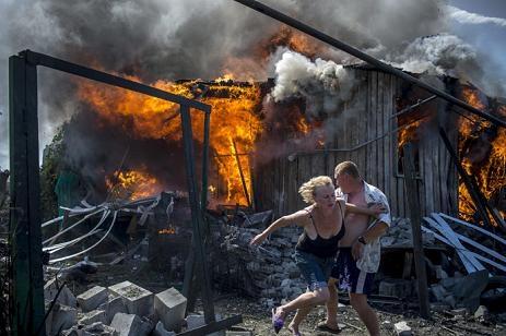 Ukraina đỏ lửa chiến tranh