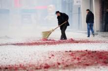 Khói pháo bao trùm Bắc Kinh ngày mùng 1 Tết