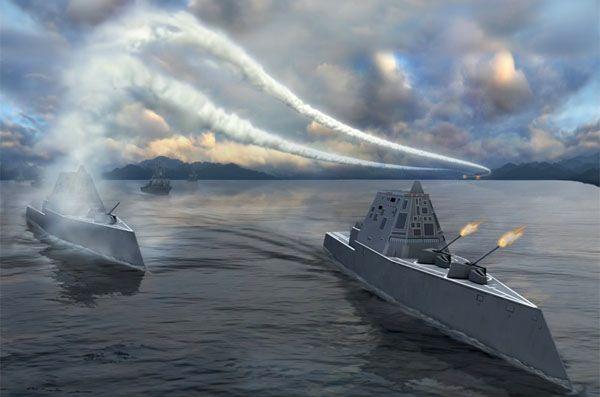 Khả năng tàng hình tuyệt đỉnh của tàu chiến USS Zumwalt