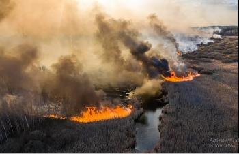 Chùm ảnh: Cháy rừng tấn công nhà máy điện hạt nhân Chernobyl ở Ukraine