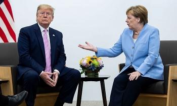 """Thủ tướng Merkel từ chối lời mời tới Mỹ sau màn tranh luận """"nảy lửa"""" về Nord Stream 2 với Tổng thống Trump"""