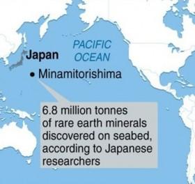 Nhật Bản được độc quyền thăm dò đất hiếm tại Thái Bình Dương