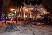 Hình ảnh vụ đánh bom đẫm máu ở Bangkok
