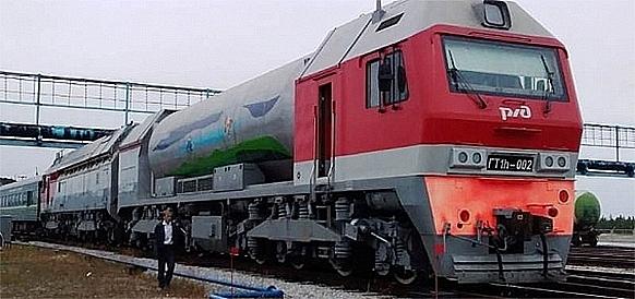 Nga chế tạo đầu máy xe lửa chạy bằng LNG