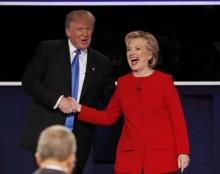 Tranh luận Trump – Clinton: Thắng bại bất phân