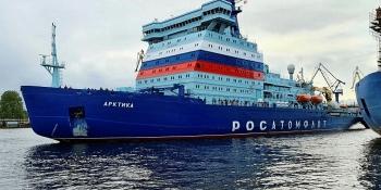 Tàu phá băng mạnh nhất thế giới được bàn giao cho hải quân Nga
