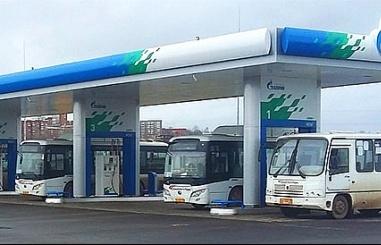 gazprom phat trien tram nap khi cho o to chay bang khi dot