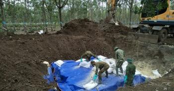 Xử lý hàng trăm thùng chất độc hóa học sót lại từ thời chiến