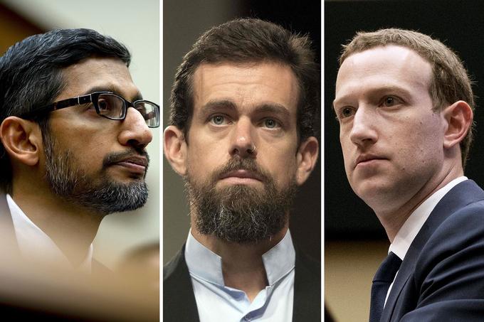 Các CEO Big Tech trong phiên điều trần của Tiểu ban Tư pháp Thượng viện Mỹ về chống độc quyền.