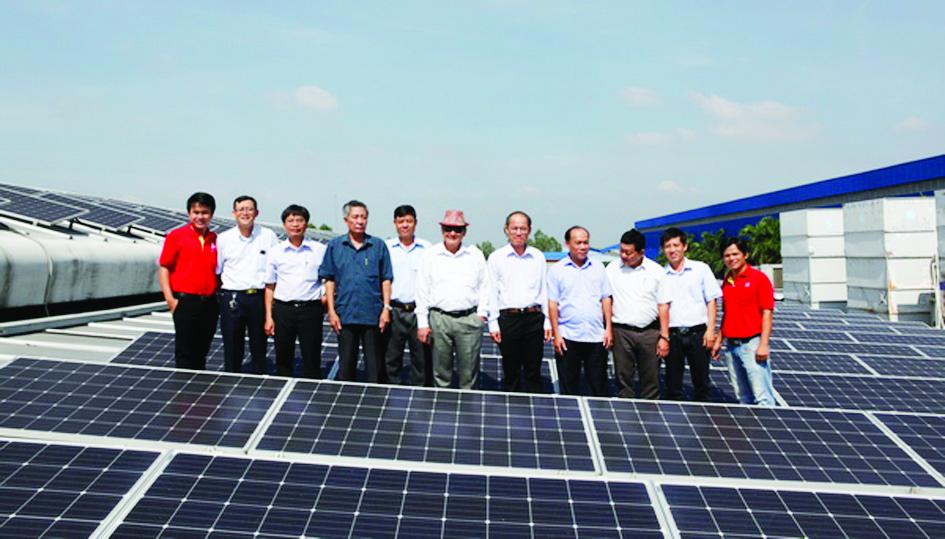 Điện mặt trời áp mái của Công ty cổ phần Đầu tư Đa quốc gia IDI.