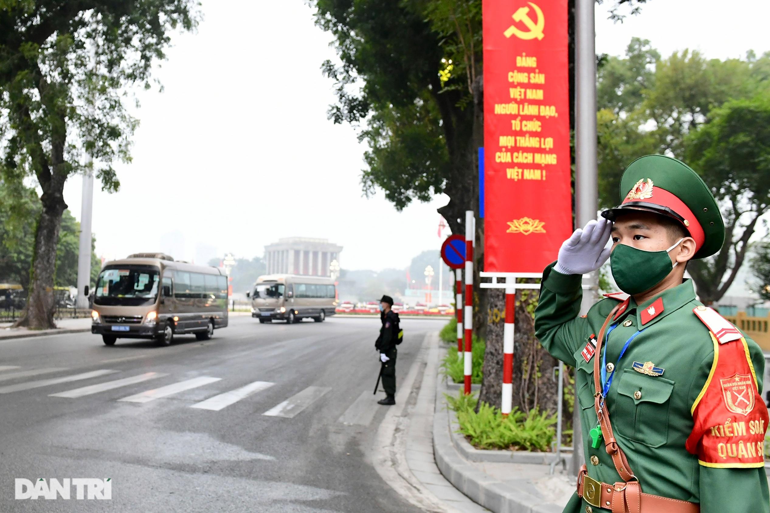 Các lực lượng đảm bảo an toàn tuyệt đối Đoàn đại biểu dự Đại hội Đảng XIII - 8