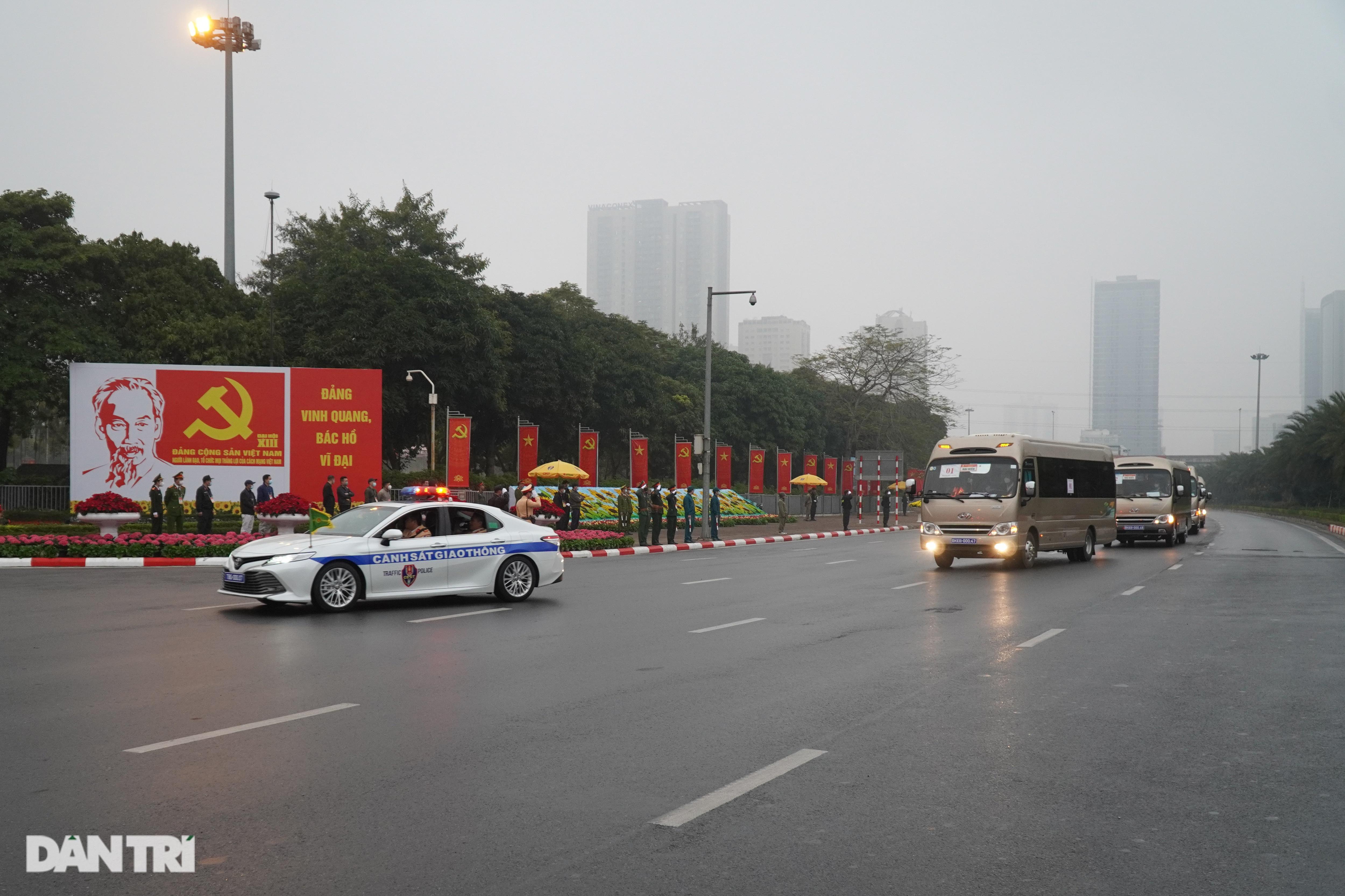 Các lực lượng đảm bảo an toàn tuyệt đối Đoàn đại biểu dự Đại hội Đảng XIII - 20