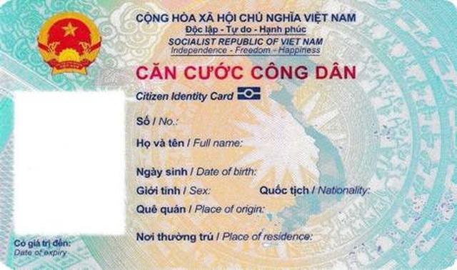 Mẫu thẻ căn cước công dân gắn chip chính thức