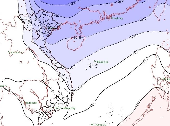 Bắc Bộ chuẩn bị đón không khí lạnh mới