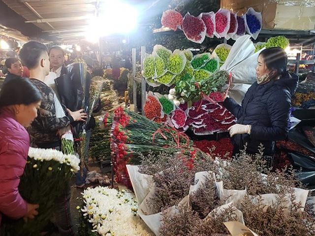 Chợ hoa Tết sầm uất nhất Hà Nội vắng chưa từng có vì dịch Covid-19 - 1