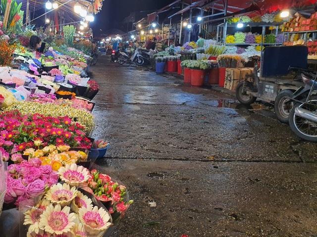 Chợ hoa Tết sầm uất nhất Hà Nội vắng chưa từng có vì dịch Covid-19 - 8