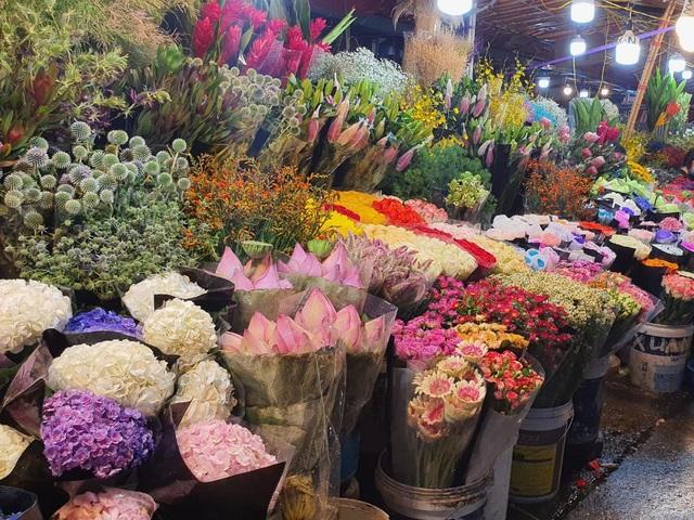 Chợ hoa Tết sầm uất nhất Hà Nội vắng chưa từng có vì dịch Covid-19 - 7