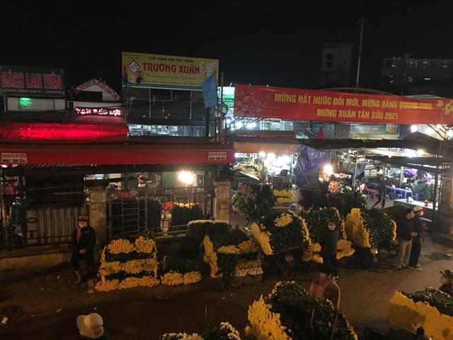Chợ hoa Tết sầm uất nhất Hà Nội vắng chưa từng có vì dịch Covid-19 - 9