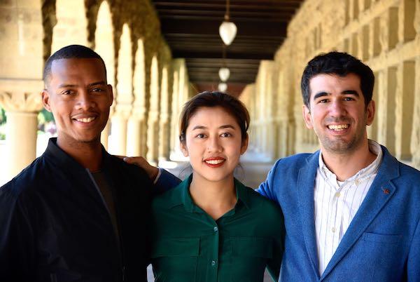 (Từ trái qua phải) Vince McPhilip MBA , Chengdiao Fan và Nicolas Kokkalisp/đồng sáng lập mạng lưới tiền điện tử Pi Network