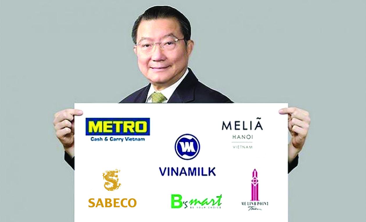 """Tỷ phú Thái Lan Charoen Sirivadhanabhakdi- Chủ tập đoàn Berli Jucker với """"bộ sưu tập"""" các thương hiệu Việt."""