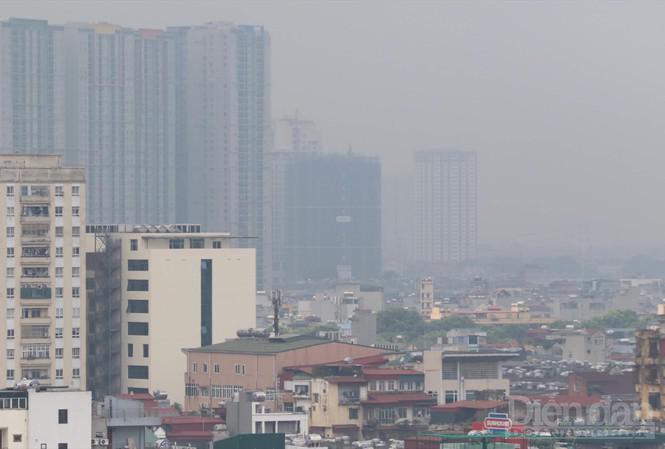 Ô nhiễm không khí tại Hà Nội. Ảnh: Bảo Lam