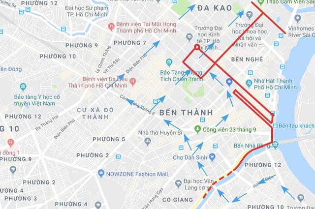 Cấm xe nhiều tuyến đường trung tâm Sài Gòn 2 ngày cuối tuần - 1