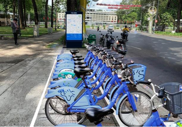 TP Hồ Chí Minh thí điểm xe đạp công cộng tại quận 1