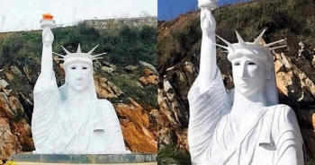 """Lập đoàn kiểm tra tượng nữ thần tự do phiên bản """"đột biến"""" ở Sa Pa"""