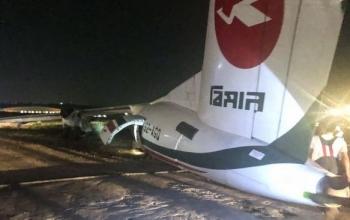 Máy bay chở khách trượt khỏi đường băng, vỡ làm 3 ở Myanmar