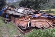 Lai Châu: Gần 100 nhà dân bị dông lốc làm sập, tốc mái