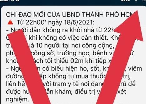 TP HCM bác tin cấm dân ra khỏi nhà từ 22h đến 5h sáng hôm sau