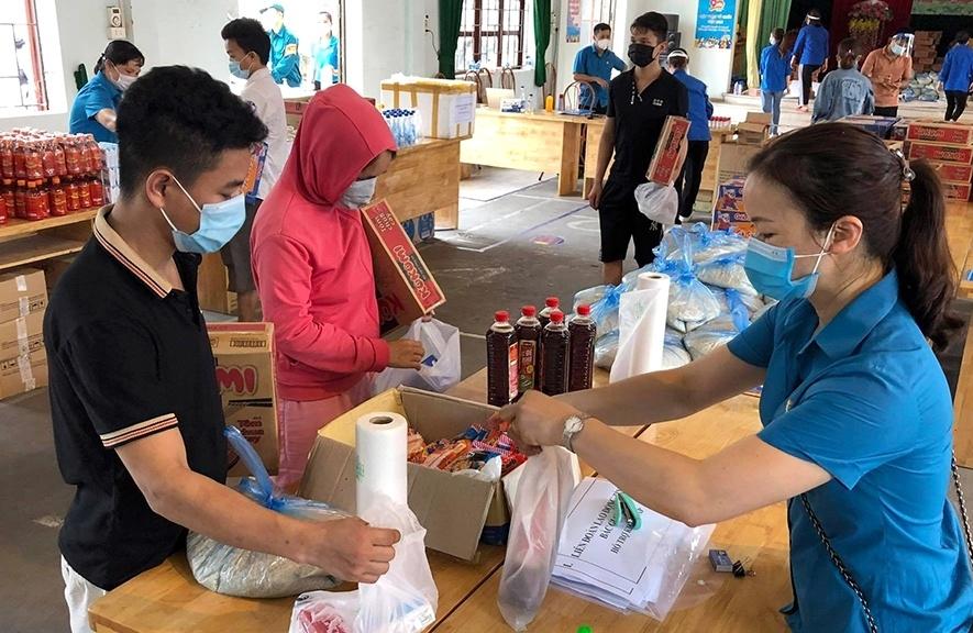 Bắc Giang: Quyết định hỗ trợ 100% tiền ăn cho công nhân mắc Covid-19