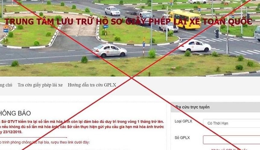 Bộ Giao thông Vận tải đề nghị xử lý website giả mạo trang giấy phép lái xe