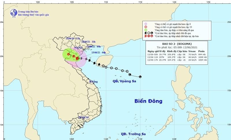 Bão số 2 đổ bộ đất liền Thái Bình - Bắc Nghệ An, gió giật cấp 10