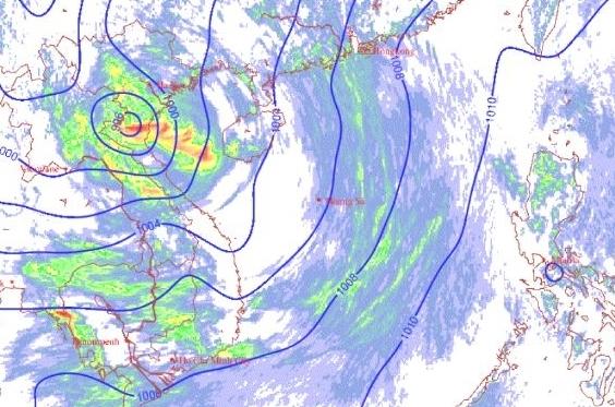 Bão số 2 suy yếu thành áp thấp, gây mưa diện rộng