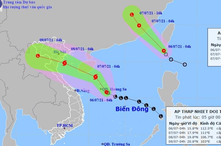 Áp thấp nhiệt đới trên Biển Đông mạnh lên thành bão