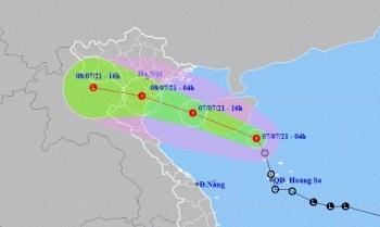 Áp thấp nhiệt đới mạnh thêm khi vào Vịnh Bắc Bộ, mưa lớn nhiều nơi từ chiều nay (7/7)