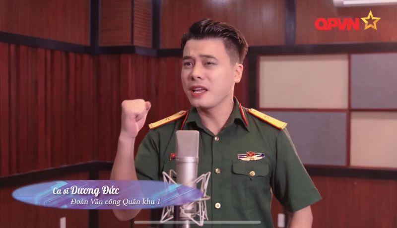 Ca sĩ mang quân hàm Dương Đức: Khi ca hát không đơn giản chỉ là niềm đam mê