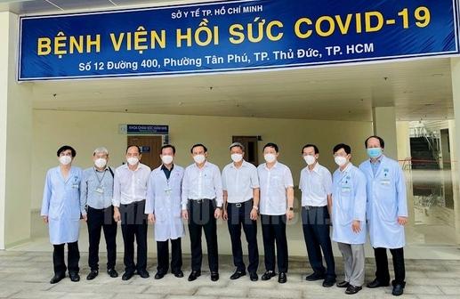 TP HCM: Bí thư Thành ủy Nguyễn Văn Nên thăm Bệnh viện Hồi sức Covid-19