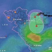 Áp thấp nhiệt đới gây mưa lớn kéo dài nhiều nơi