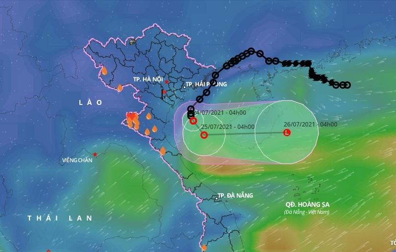 Bắc Bộ, Bắc Trung Bộ mưa lớn do hoàn lưu áp thấp nhiệt đới