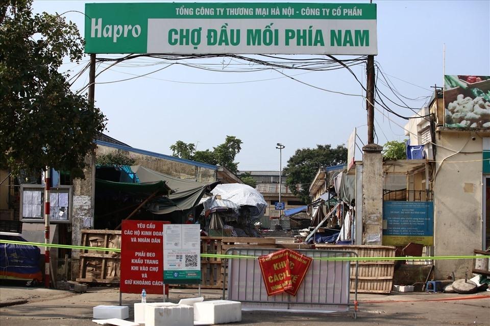 Hà Nội: Tạm thời ngừng hoạt động chợ đầu mối phía Nam