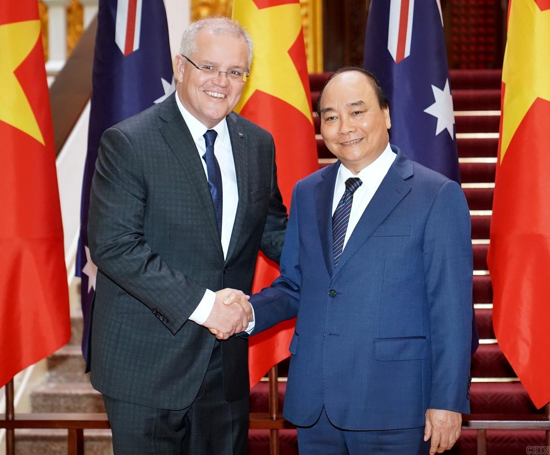 thu tuong chinh phu nguyen xuan phuc hoi dam voi thu tuong australia scott morrison