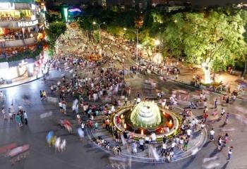 Phố đi bộ hồ Hoàn Kiếm hoạt động trở lại từ ngày 18/9
