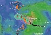 Áp thấp nhiệt đới mạnh lên thành bão số 6, hướng vào đất liền miền Trung