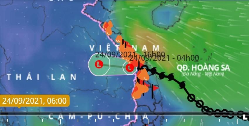 Bão số 6 suy yếu, mưa lớn tại Trung Bộ, Bắc Tây Nguyên, Bắc Bộ