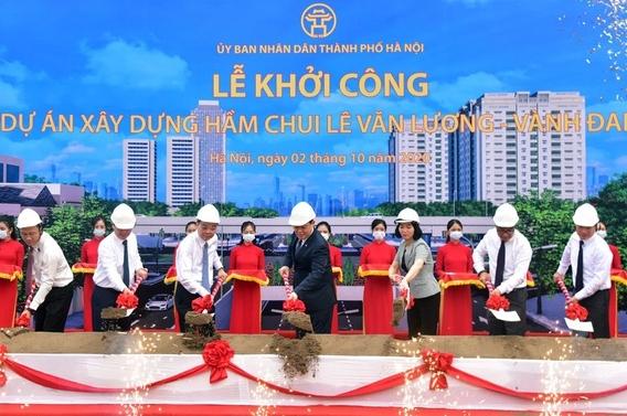 Hà Nội khởi công hầm chui gần 700 tỷ qua nút giao Lê Văn Lương - Vành đai 3