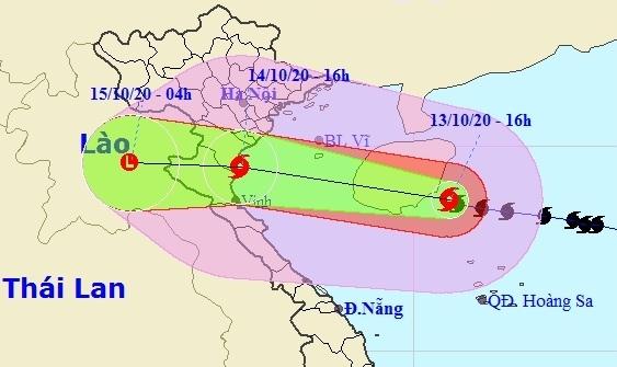 Chiều 14/10, bão số 7 giật cấp 11 áp sát các tỉnh Đồng bằng Bắc Bộ và Bắc Trung Bộ