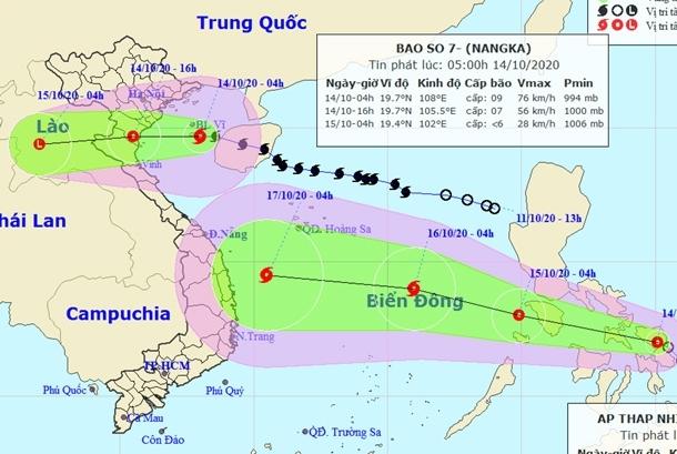 Bão số 7 đổ bộ khu vực Thái Bình - Nghệ An gây mưa lớn, áp thấp tiếp tục xuất hiện