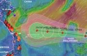 Bão Saudel tiến vào Biển Đông, dự báo không ngừng mạnh thêm